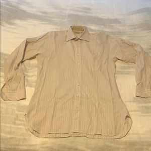 Men's Paul Stuart pink and white check shirt